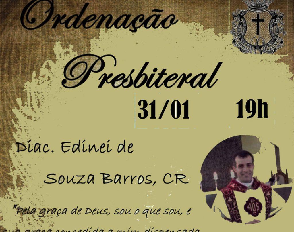 Ordenación Presbiteral del Diácono Edinei De Souza Barros, C.R.