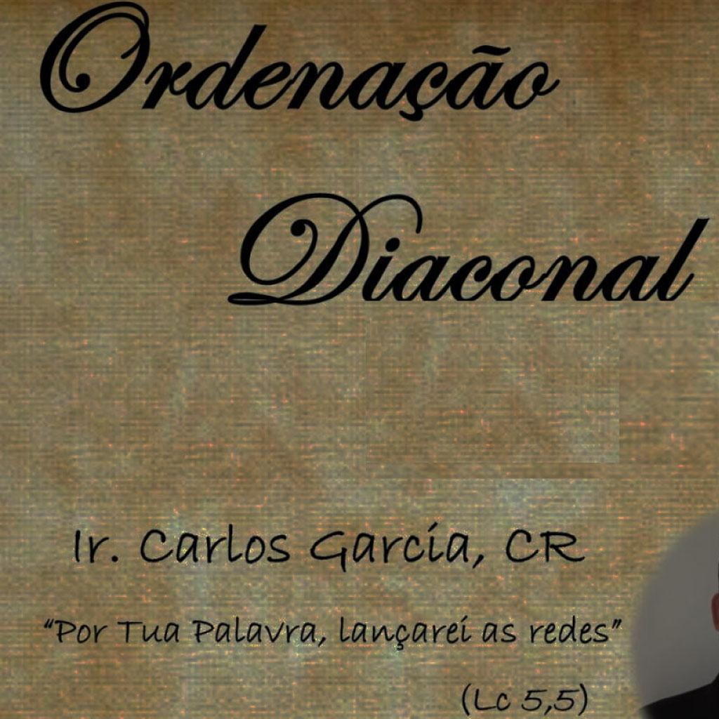 Invitación a la ordenación diaconal de los Hnos. Lucas Gobbo y Carlos García, CC.RR.