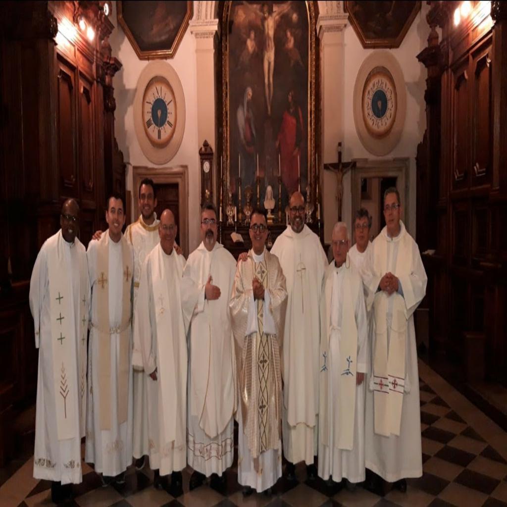 Aniversarios Sacerdotales Padres Osman y Joâo, en Roma