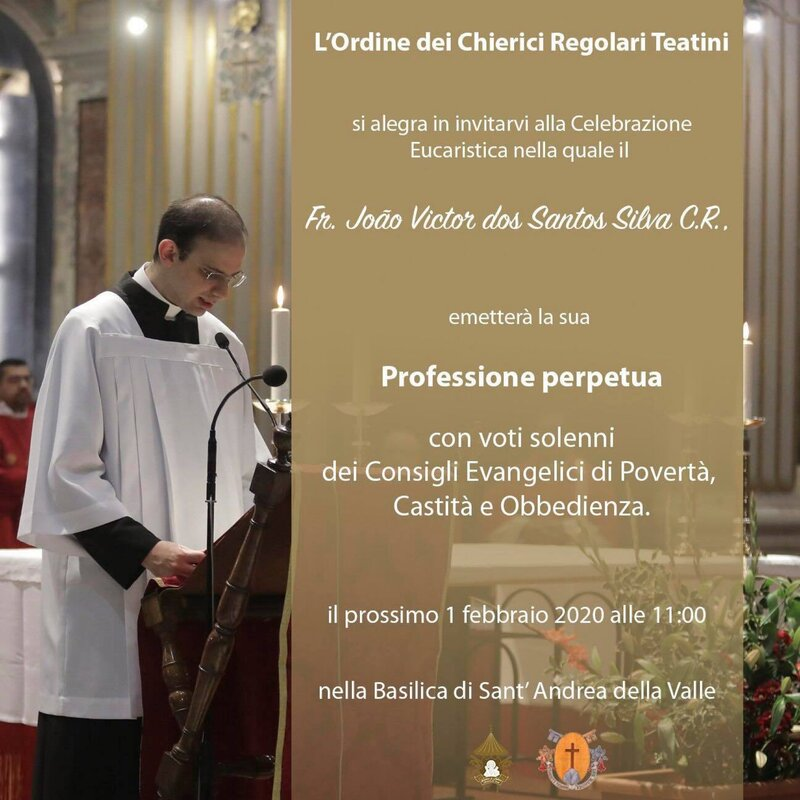 Profesión Solemne del Hno. João Víctor dos Santos Silva, C.R. en Roma