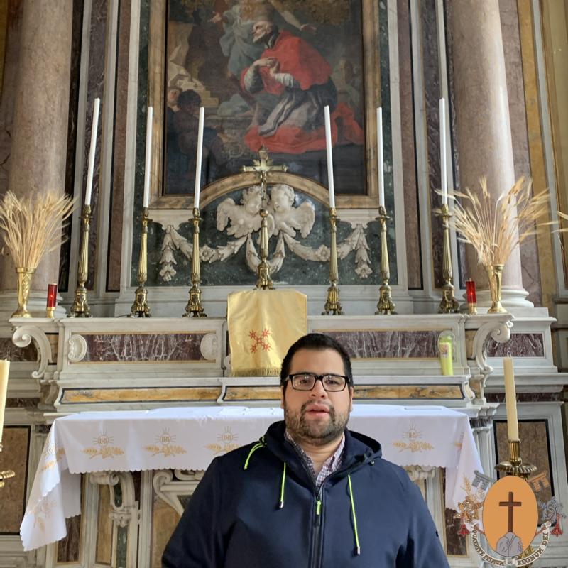 Primera profesión religiosa del novicio Jeremías Germán Aguirre, originario de la