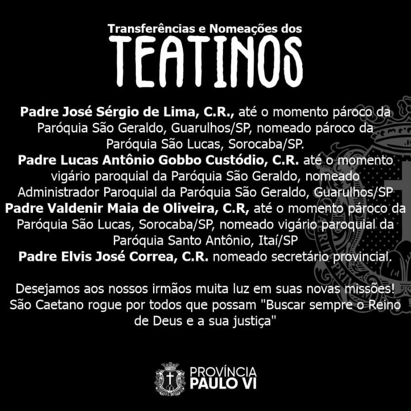 Nuevo Secretario Provincial de los Teatinos en Brasil