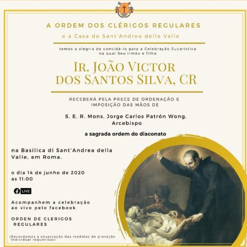 Enlace y Liturgia: Ordenación Diaconal del Hno. João Victor dos Santos Silva, C.R.
