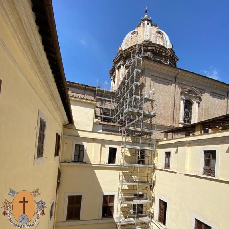 Travaille à Sant'Andrea della Valle