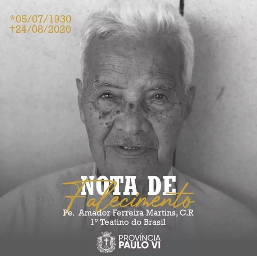 Fallecimiento del P. Amador Ferreira Martins, C.R.