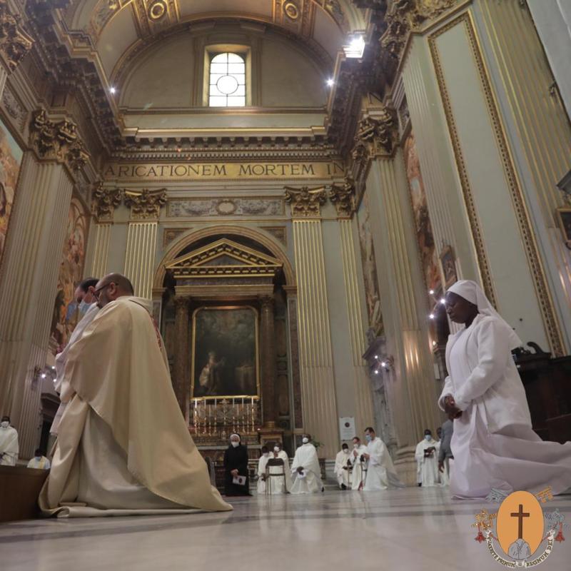 Profession perpétuelle d'une Nonne Théâtine à Sant'Andrea della Valle